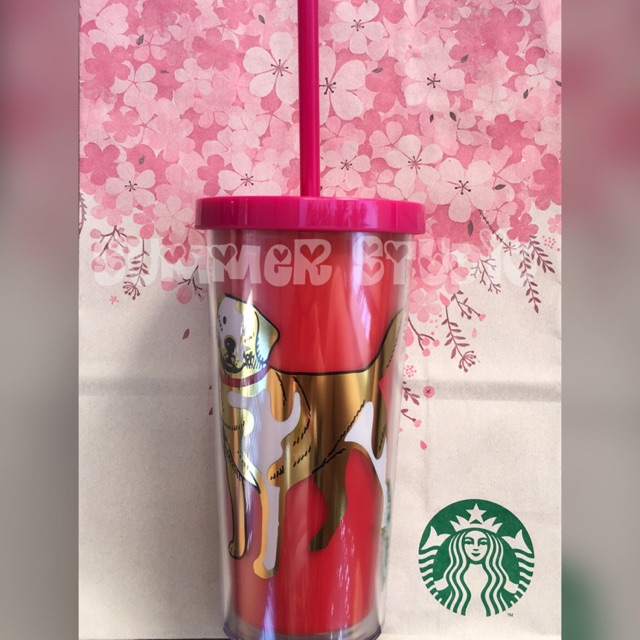 Australia Starbucks Dog Cold Cup With Straw