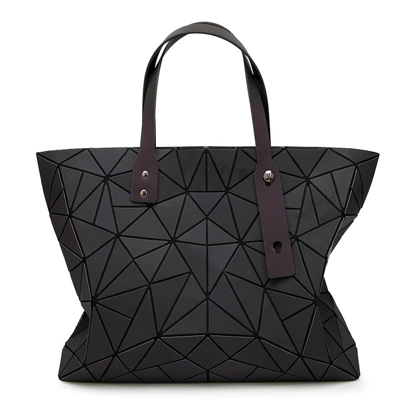 844e7d3b357 Moamoy Baobao Bags Women Handbag Geometry Totes Sequins Mirror reflective  Plain