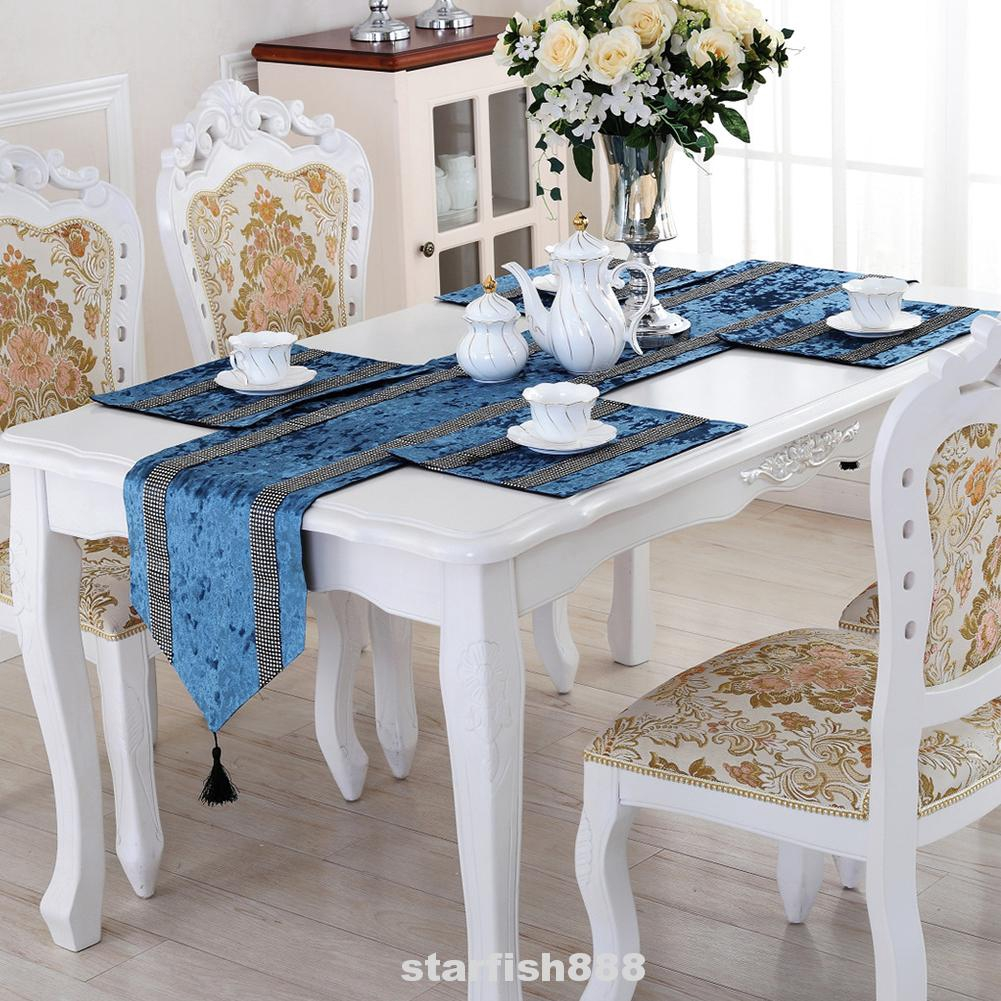 Modern Tree Patterns Damask Table Runner Banquet Party Home Wedding Table Decors