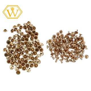 🌀Stock🌀100 studs rivet buttons color gold MM7 bricolage