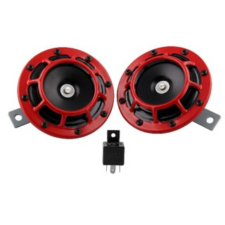 2PCS Loud Blast 12V Red Grille Mount Super Tone a Horn A Supertone Wiring Harness on