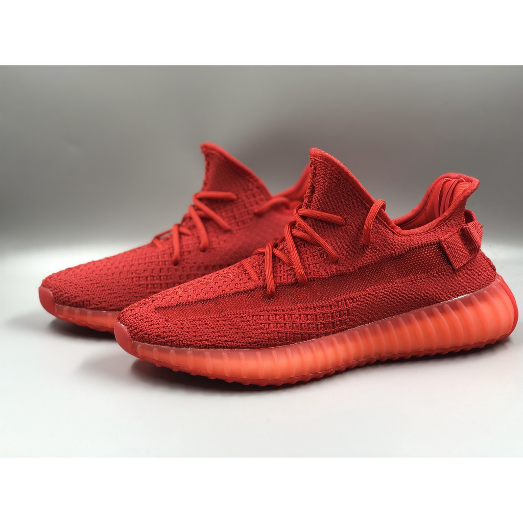 yeezy shoes red