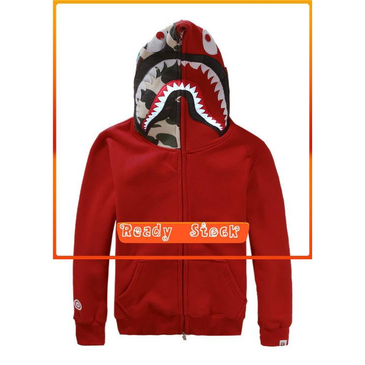 e16d5709 Bape A Bathing Ape FULL ZIP HOODIE SHARK Head Camo Jacket | Shopee  Philippines
