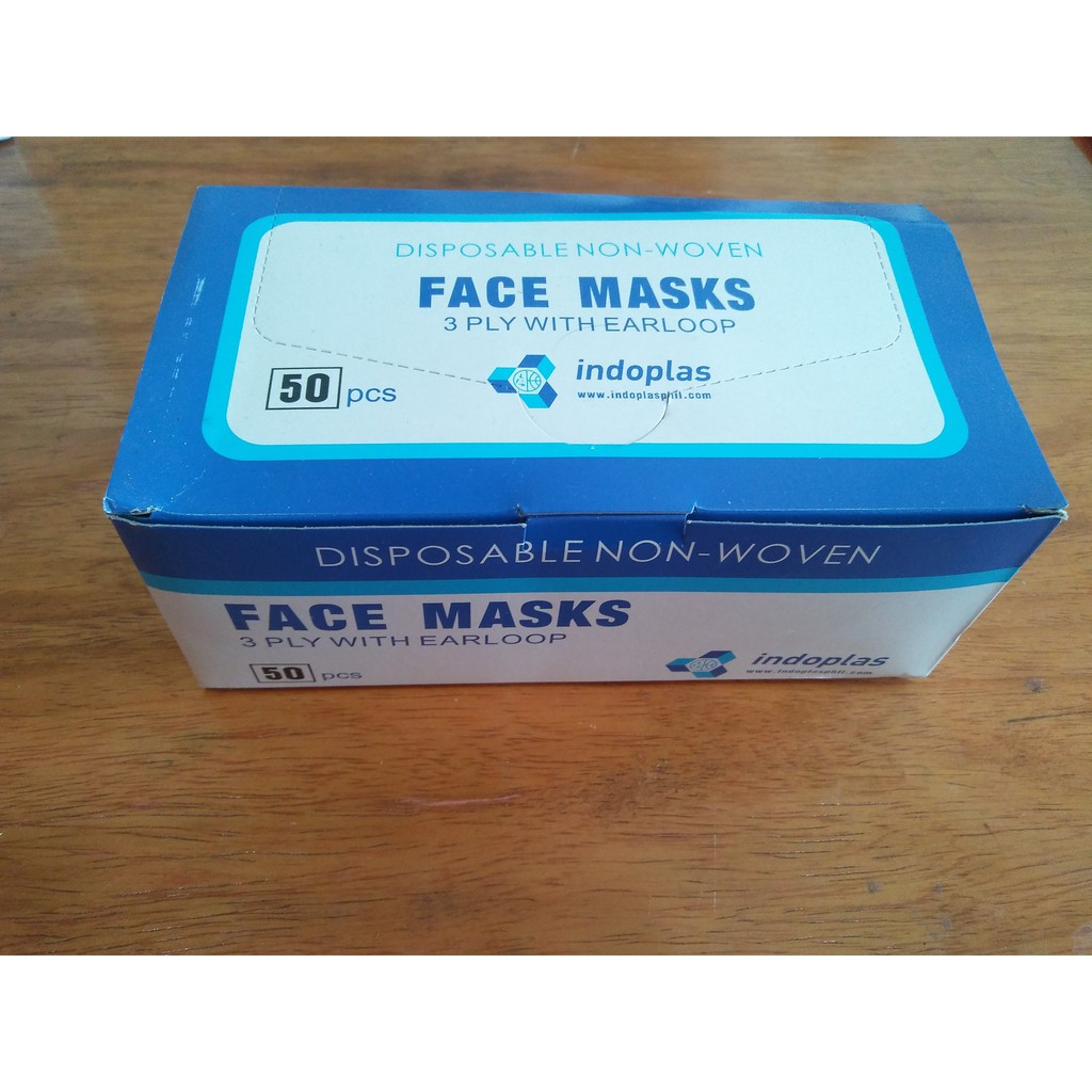 Indoplas Face Disposable Face Disposable Mask Indoplas Mask