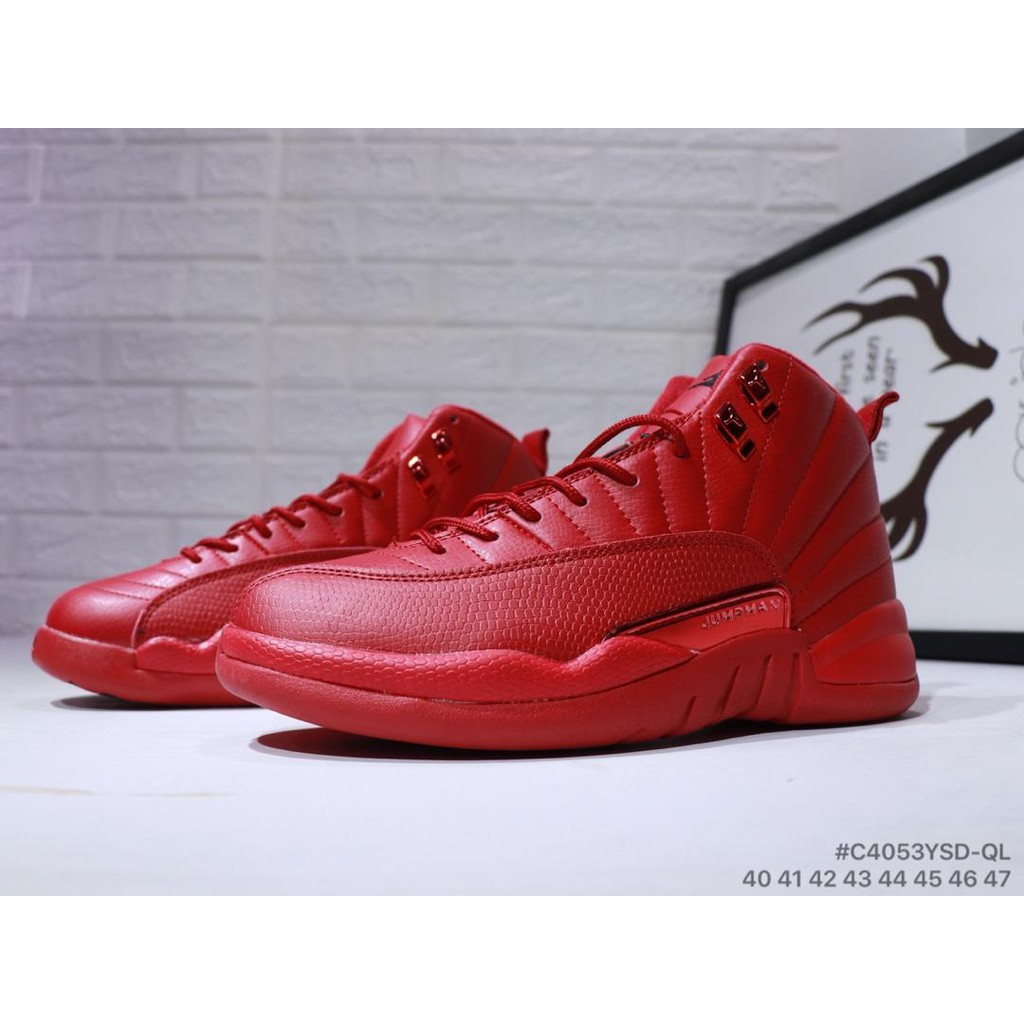 new style 61432 4e044 NIKE Air Jordan 12 Retro Joe 12 ALL Red in the full leather