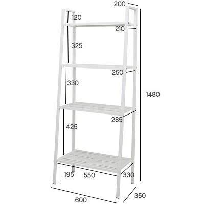 quality design 4798d d377e Kitchen 4-Tier Shelf Rack Book Organizer 148x35*60cm (White) onstock