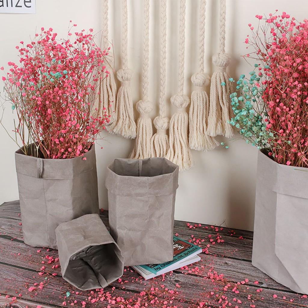 Washable Kraft Paper Bag Plant Flowers Pots Multifunction Home Storage Bag  Reuse | Shopee Philippines