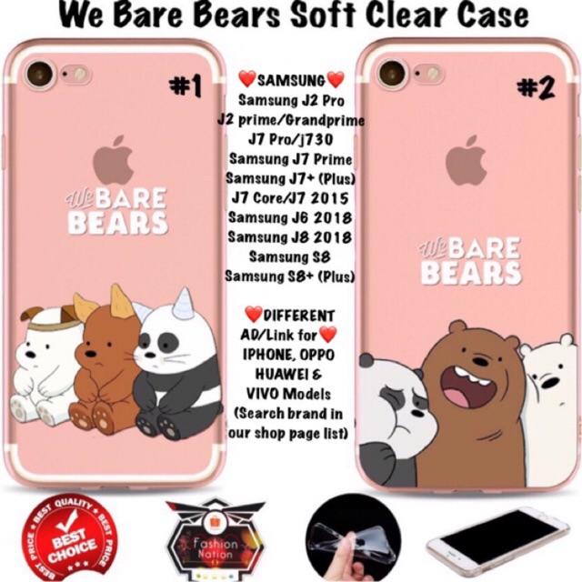 check out 7488d 2bad5 We Bare Bears Samsung Case J6 J8 2018 J2 j7 S8 Pro Prime Plus Core On7 2016  iphone 5c 5s 6 6s 7 Plus