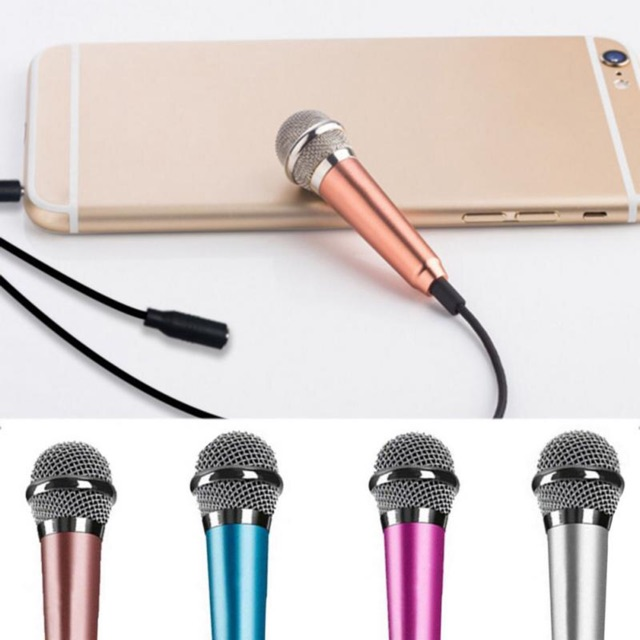 Mini Microphone Mini Ktv Karaoke Condenser Microphones Speaker For Cell Phone Laptop Pc Shopee Philippines