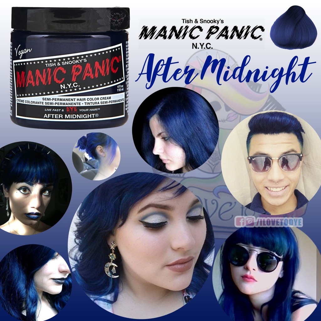 To acquire Blue Midnight hair color manic panic pictures picture trends