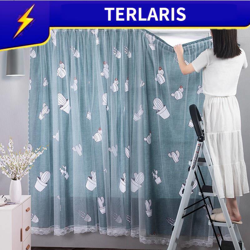 Langsir Kitchen Velcro Curtain Installation For The Simple Enticement Sleeping Girls Minimalist Moden Shopee Philippines