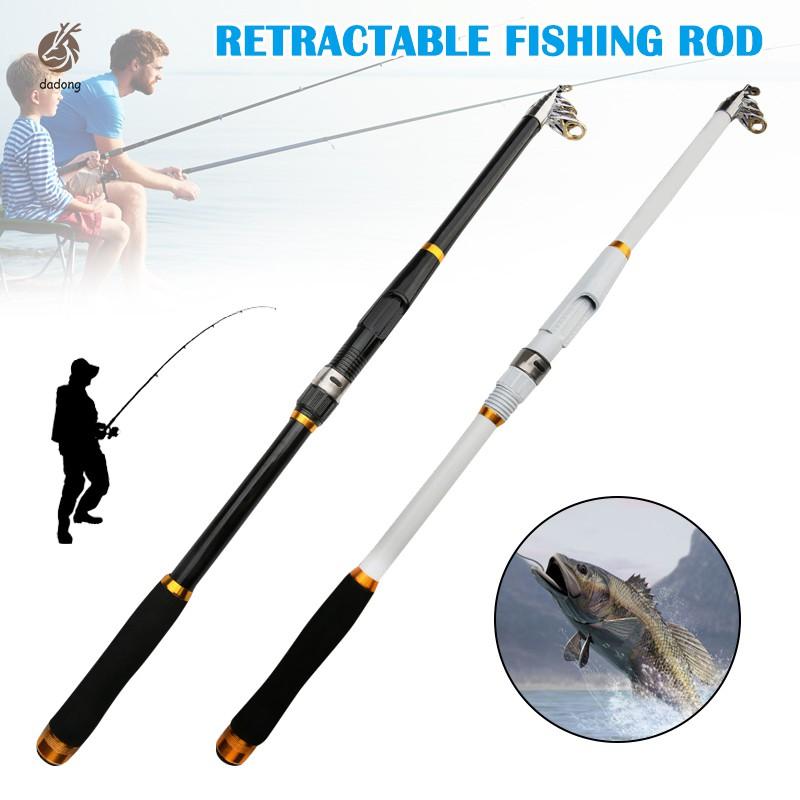 Glass Fiber Retractable Fishing Rod Reinforced Elastic Ocean Telescopic Fish Kit