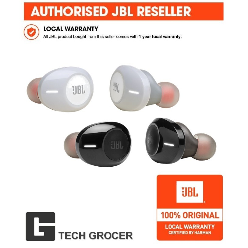 JBL TUNE 120TWS Wireless In-Ear Headphones (Black/White)