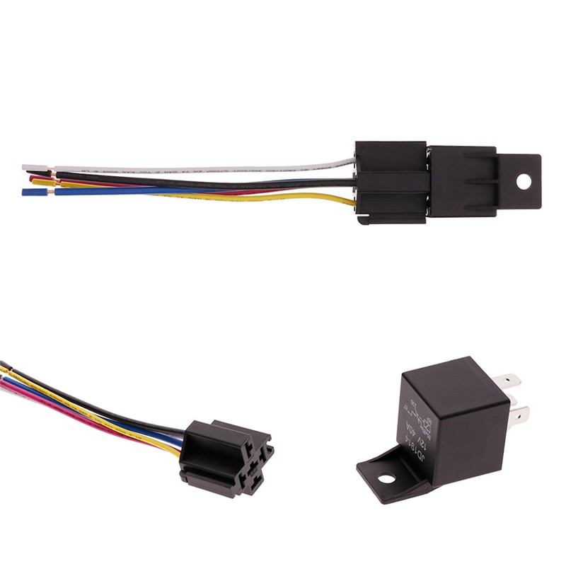 HW 1Pcs DC 12V Car SPDT Automotive Relay 5 Pin 5 Wires w/Harness Socket  Pin Automotive Relay Wiring In Series on