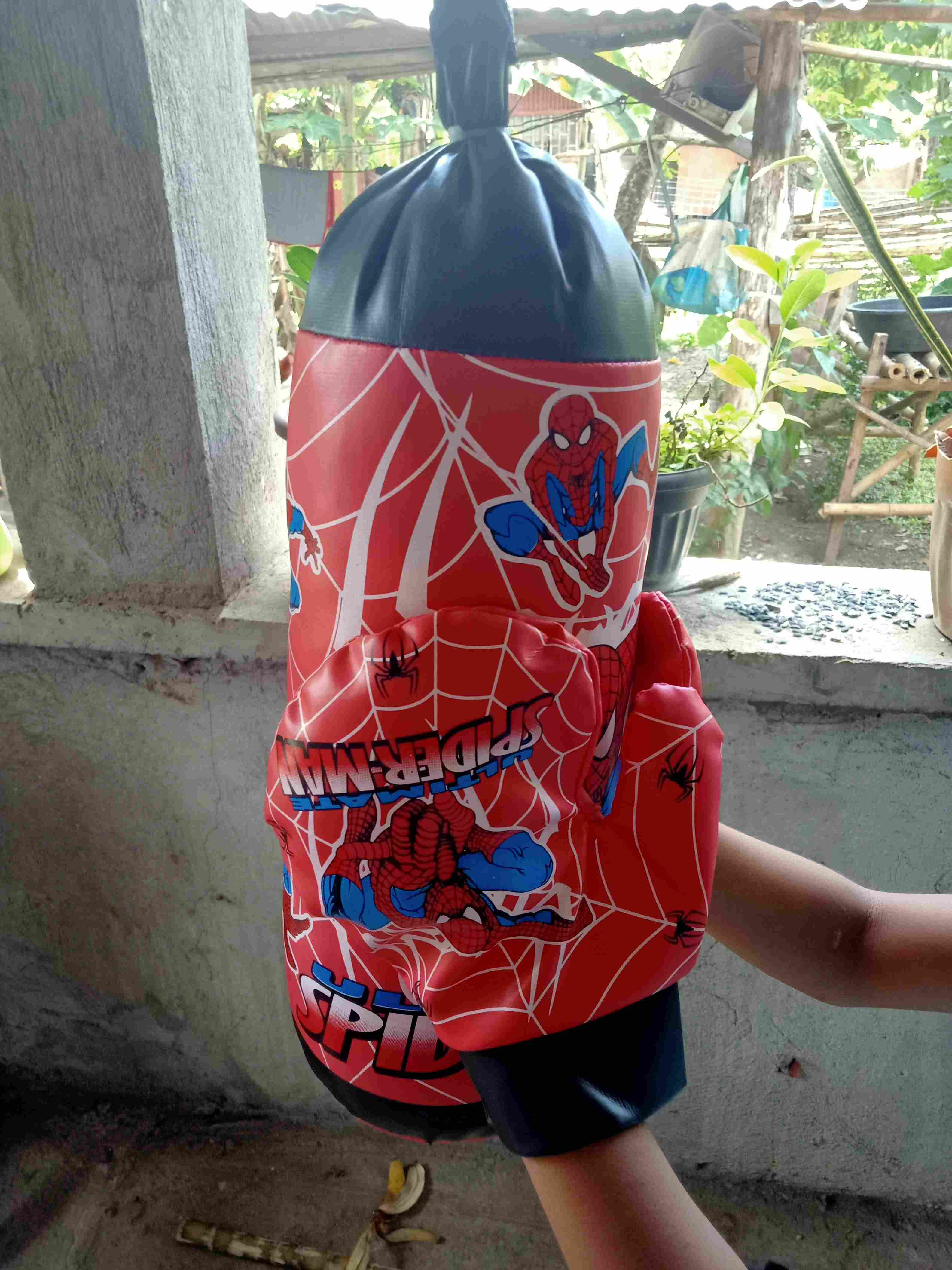Spiderman Avengers Kids Boxing Bag Gloves Punching Set Children PVC Exercise Toy