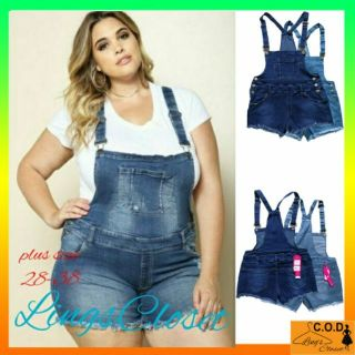 online here laest technology special sales LC Plus size Denim jumper shorts