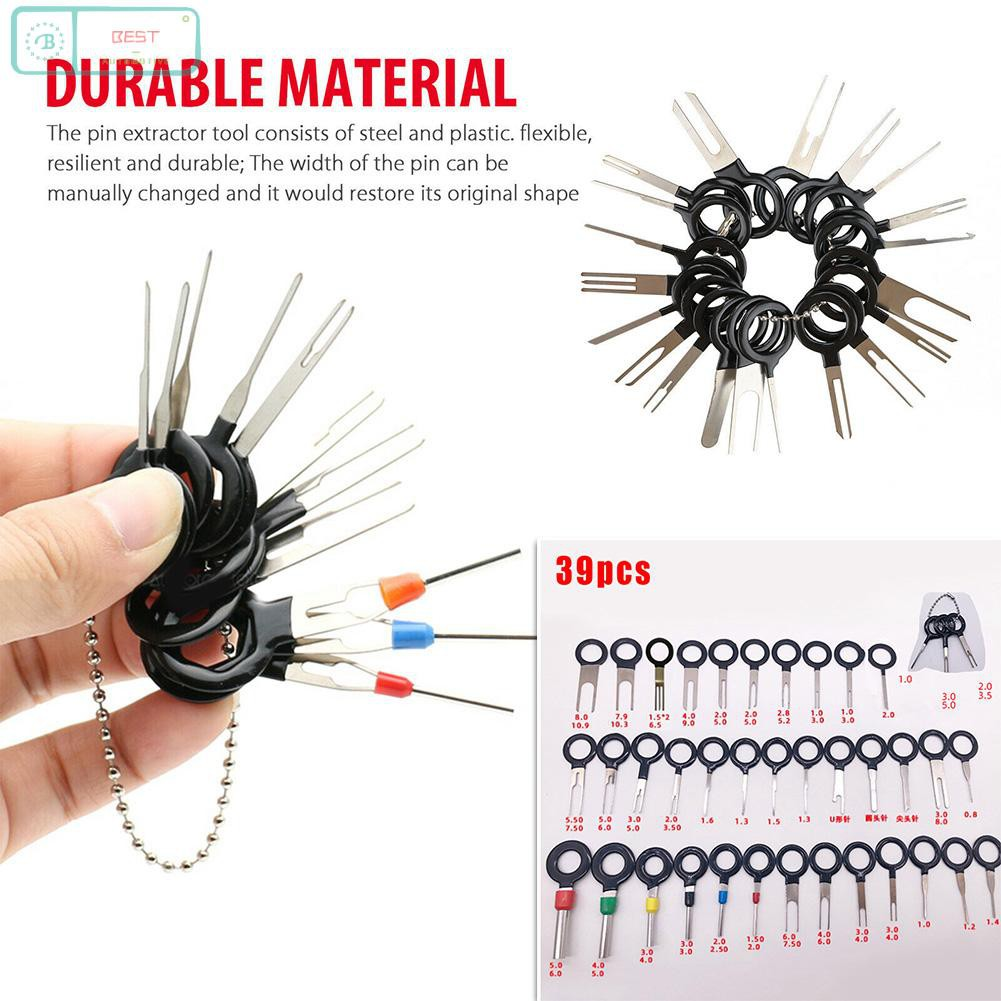 Wire Terminal Removal Auto Pin Needle Ejector Kit 39pcs
