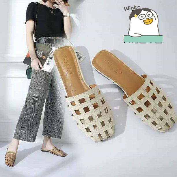 a082973ca2135 NEW Korean Fashion Elegant Flat sandals for women half shoes #AY-004