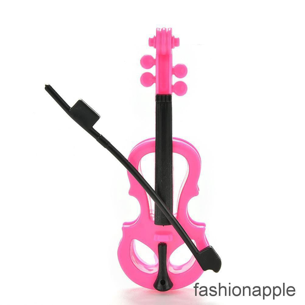 1 Pcs Creative Fashion Rose Black Violin for Barbies Dolls