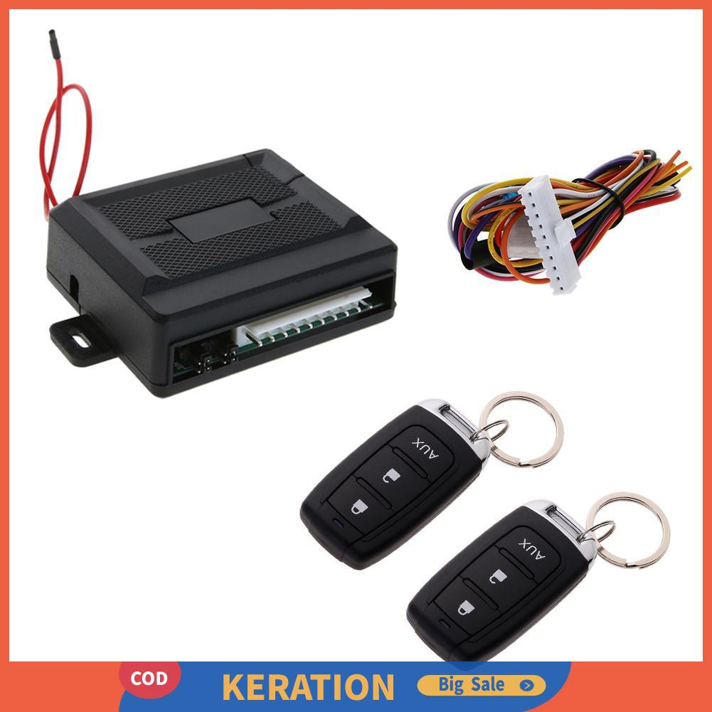 Car Alarm System Alarm Kit 12V Control Central Remote Door Locking Anti-theft UK