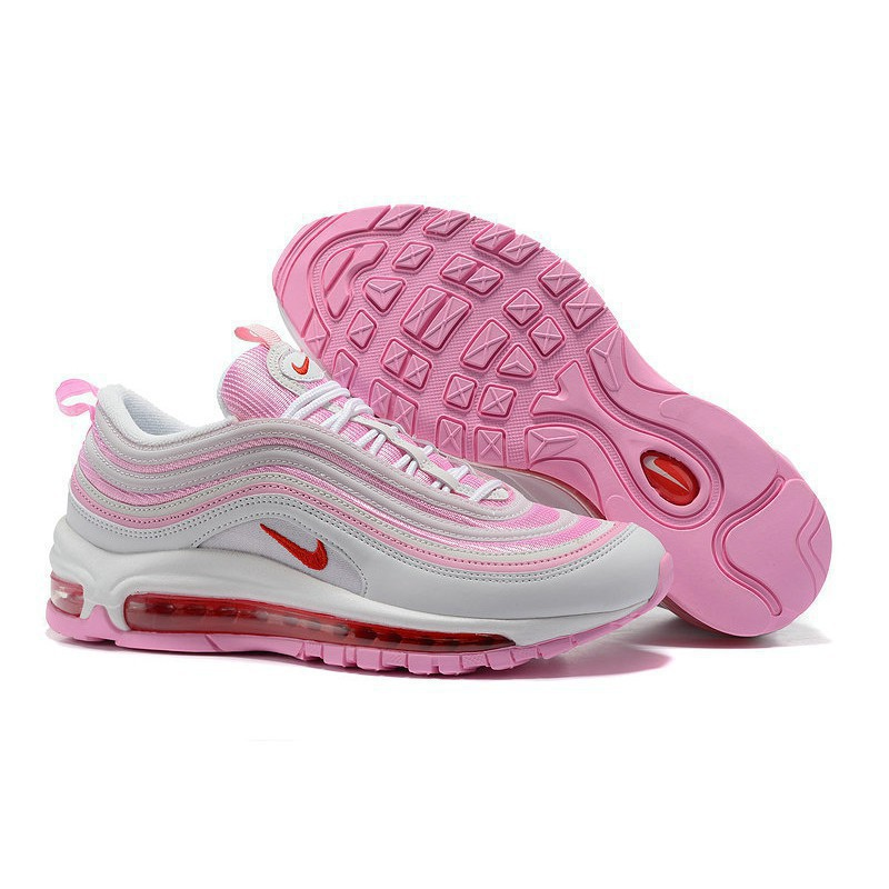 pink and white air max 97