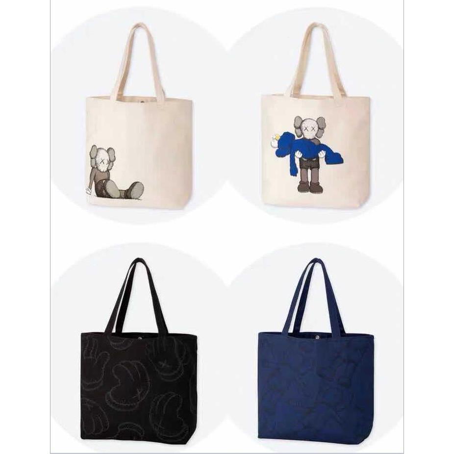 Uniqlo X Kaws 2019 Canvas Tote Bag