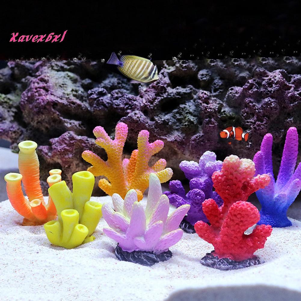 Aquarium Fish Tank Artificial Resin Coral Plants Decoration Underwater Ornament Pink