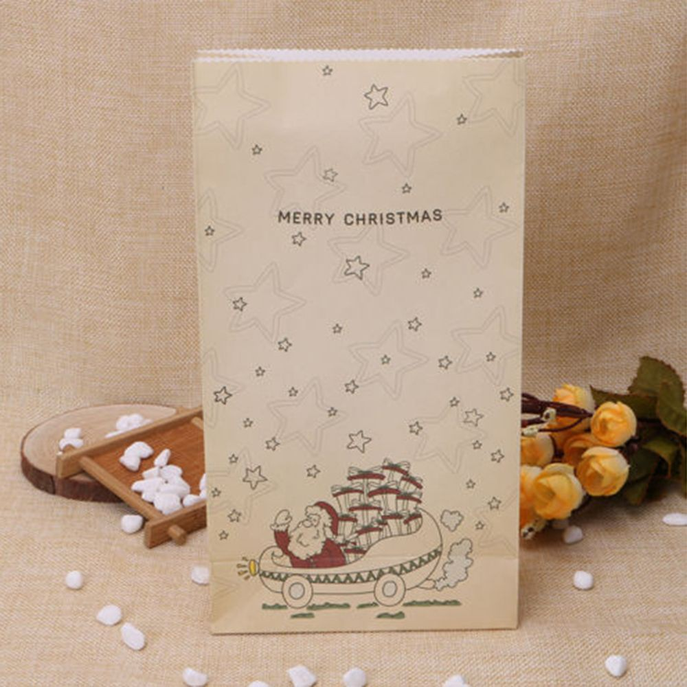 Gift Party Cookies Kraft Bag Xmas Paper