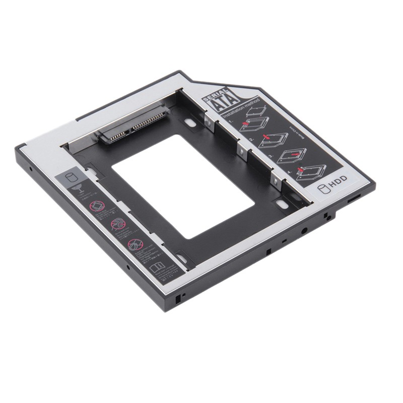 12.7mm Durable IDE to SATA HDD Hard Drive Caddy 2.5 inch Universal Second HDD Caddy Thickness