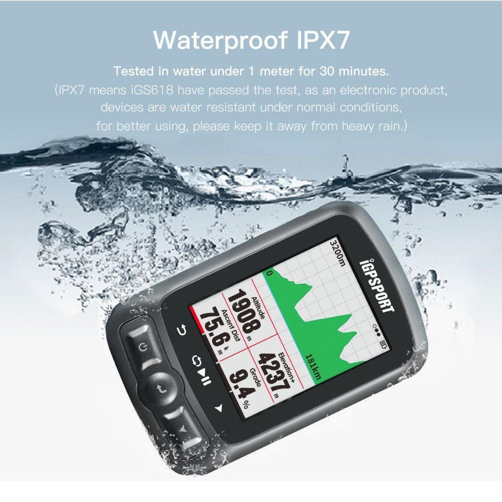 IGPSPORT Black IGS50E Waterproof Cycling GPS Ant Wireless Computer with Bracket