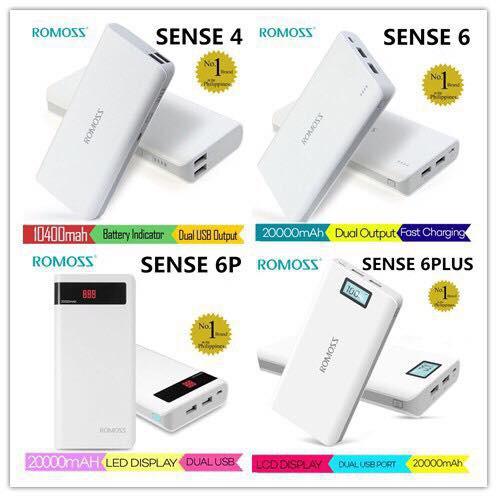 Romoss Powerbank Official Sense6 Plus 20000mAh FAST