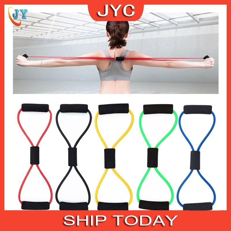 Yoga Gum Fitness Chest Expander Rope Workout Muscle Elastic Bands Exercise T