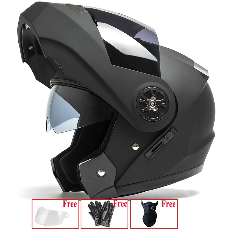 3b4f2eae LS2 motorcycle helmet men and women fully covered double len | Shopee  Philippines