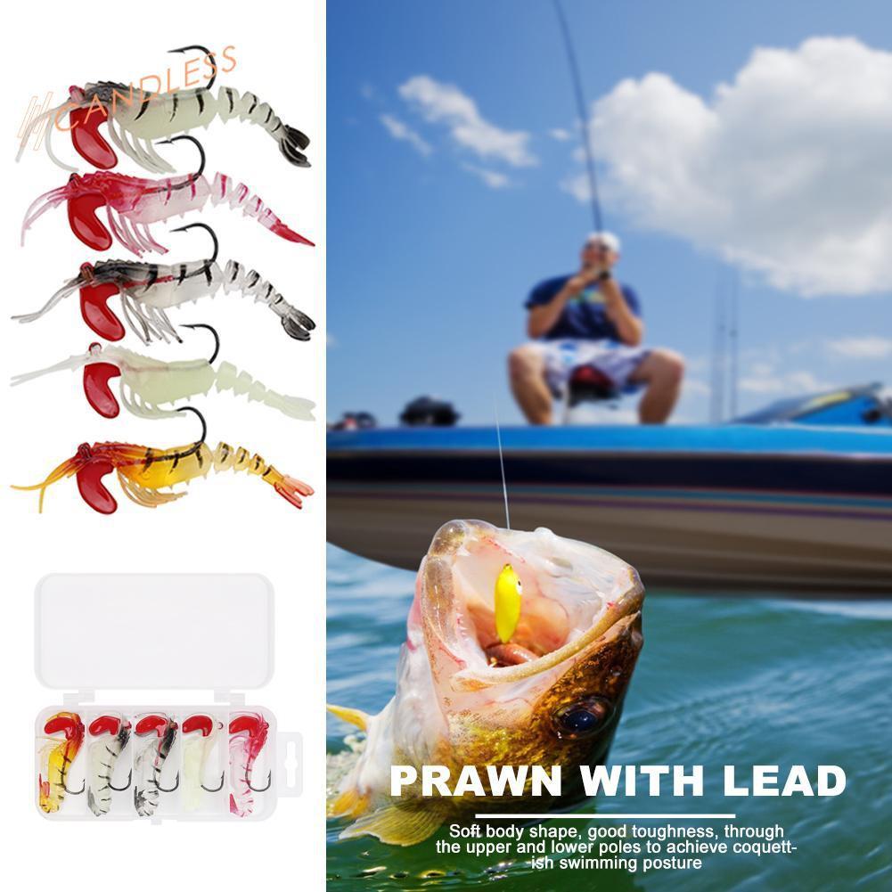 Details about  /Muti-knots Lead Head Soft Shrimp Sea Fishing Lure Baits Sinking Wobblers R1BO