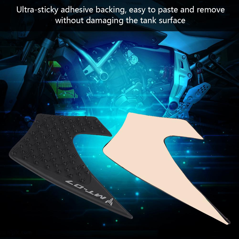 Anti-Slip Knee Grip Protector Sticker with Yamaha MT-07 FZ-07 2014-2016 1 Pair Motorcycle Tank Traction Pad