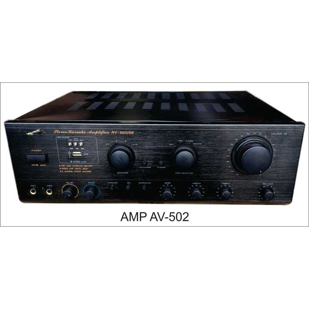 KONZERT AMPLIFIER AV502B
