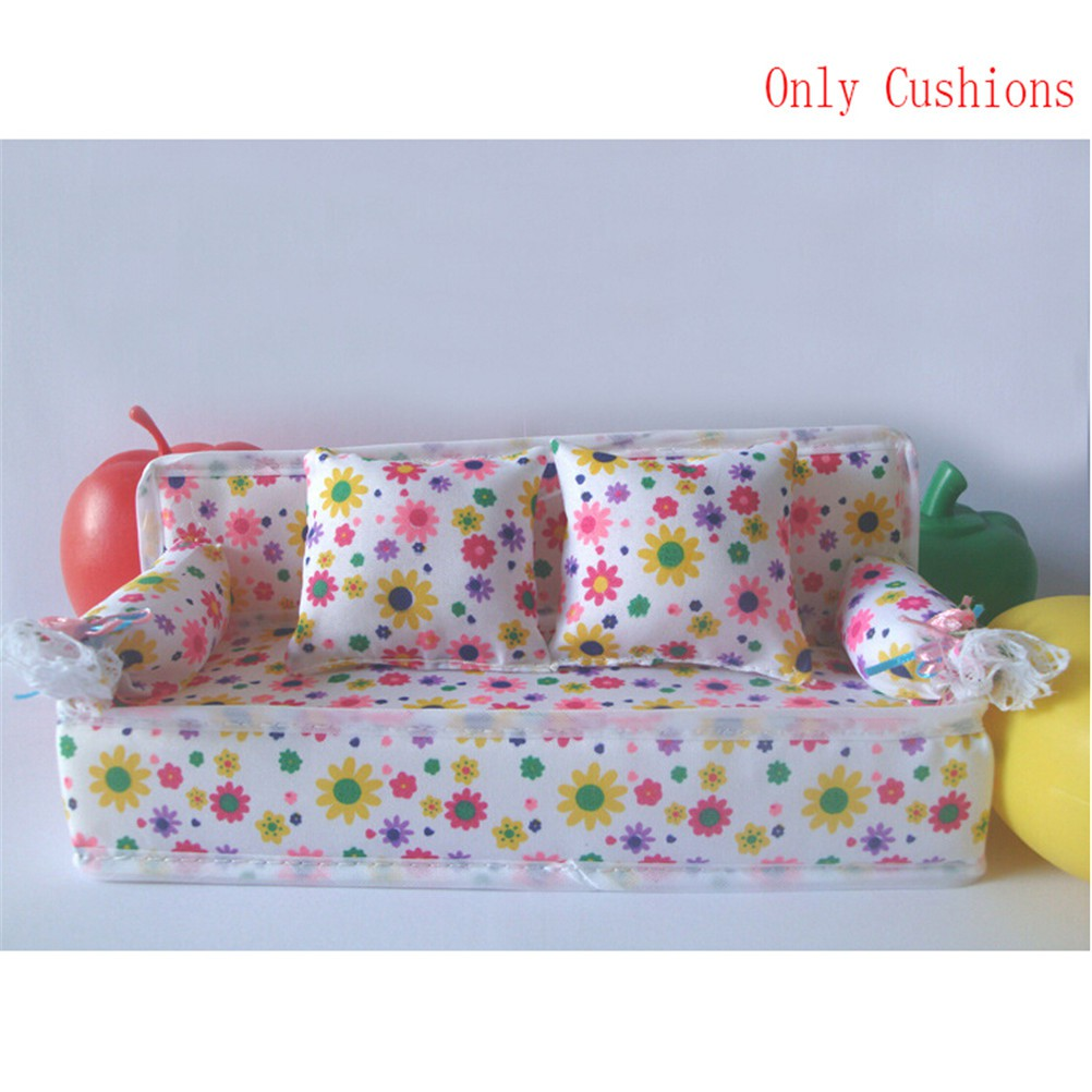 Baby Toy Plush Stuffed Furniture 3x Cushions For Doll Couch CF
