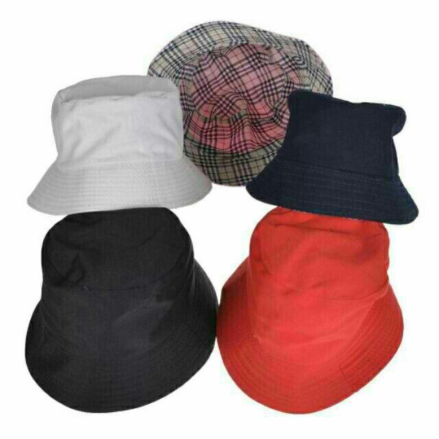 9aedc92a4 Plain Bucket Hat Reversible