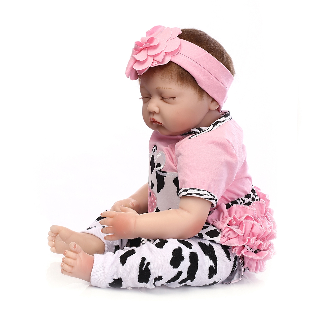 "Reborn Baby Doll Handmade Real Looking Newborn  Vinyl Silicone Reborn Doll 22/"""