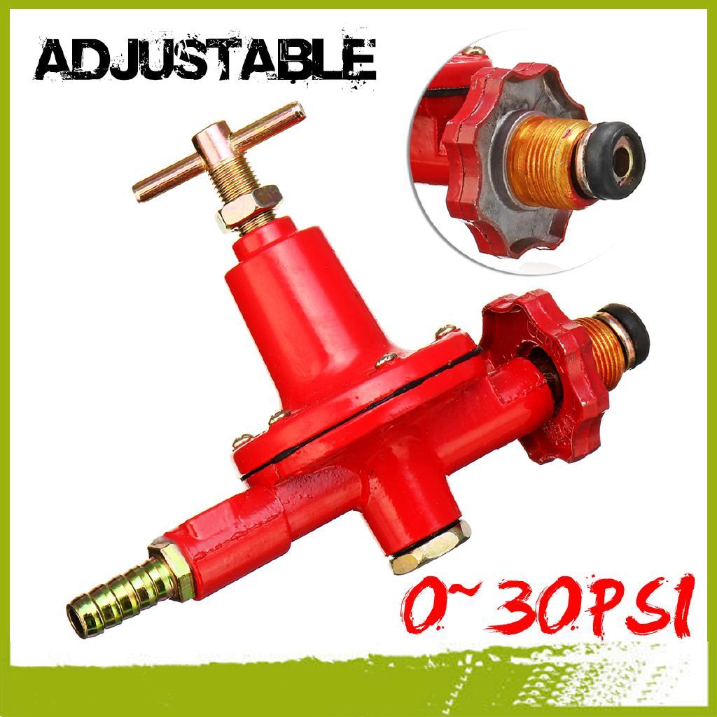 Adjustable 0~30PSI High Pressure Propane Regulator High Flow Outdoor LP Burner Garden & Patio Barbecue Tools & Accessories