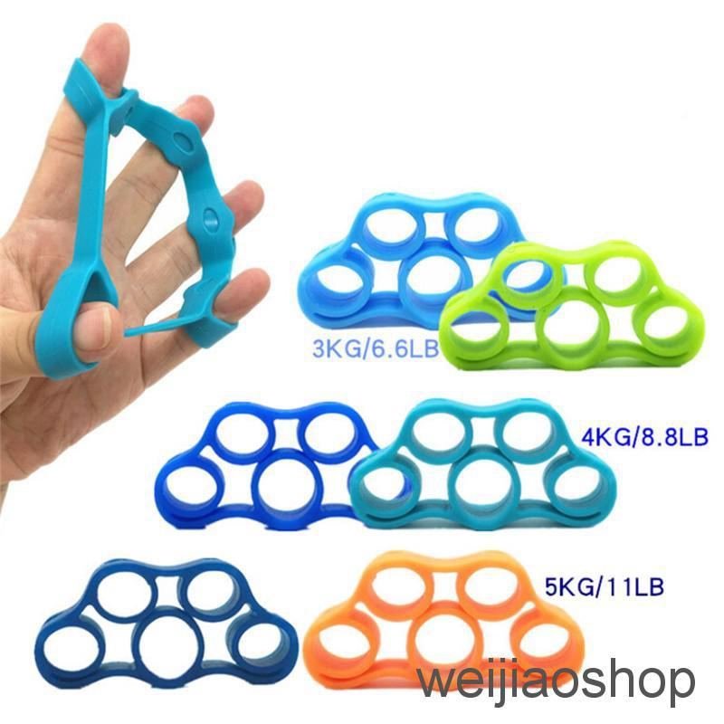 Hand Finger Strength Exerciser Trainer Strengthener Grip Resistance Band Tension