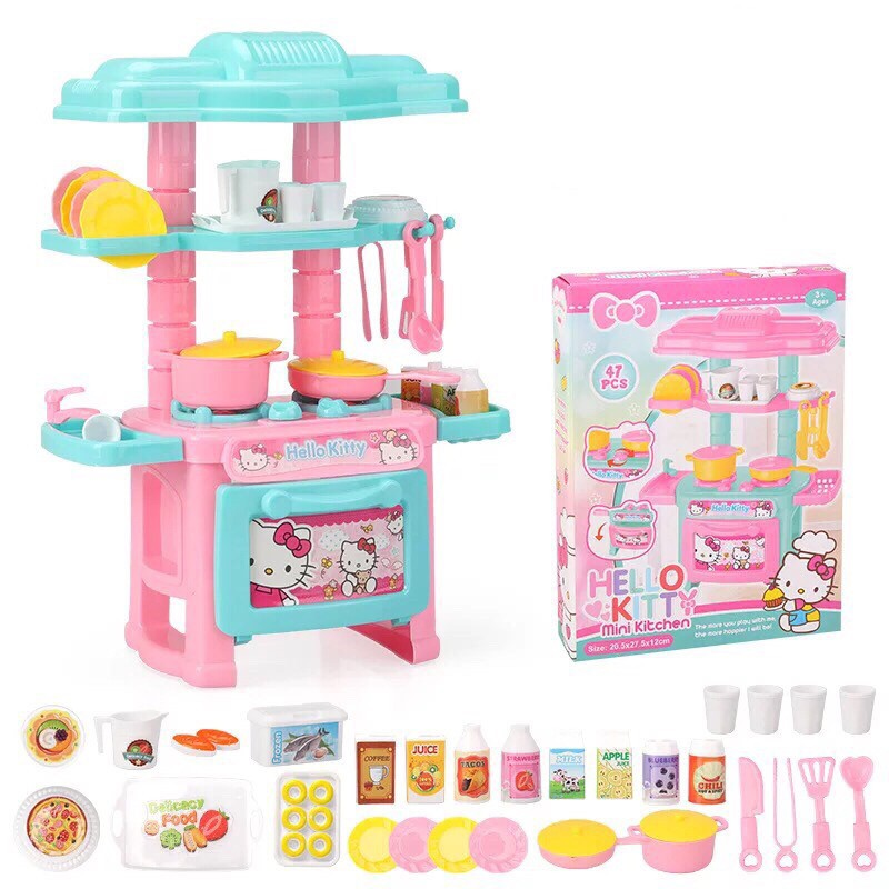 Mini Kitchen Set Toy Kid Play Cooking Toys Shopee Philippines
