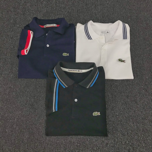 35975c62a Men's Lacoste Polo Shirt Trio | Shopee Philippines