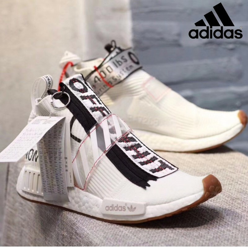detailed pictures 685af e7aa4 Adidas new style off-white x adidas NMD city sock shoes