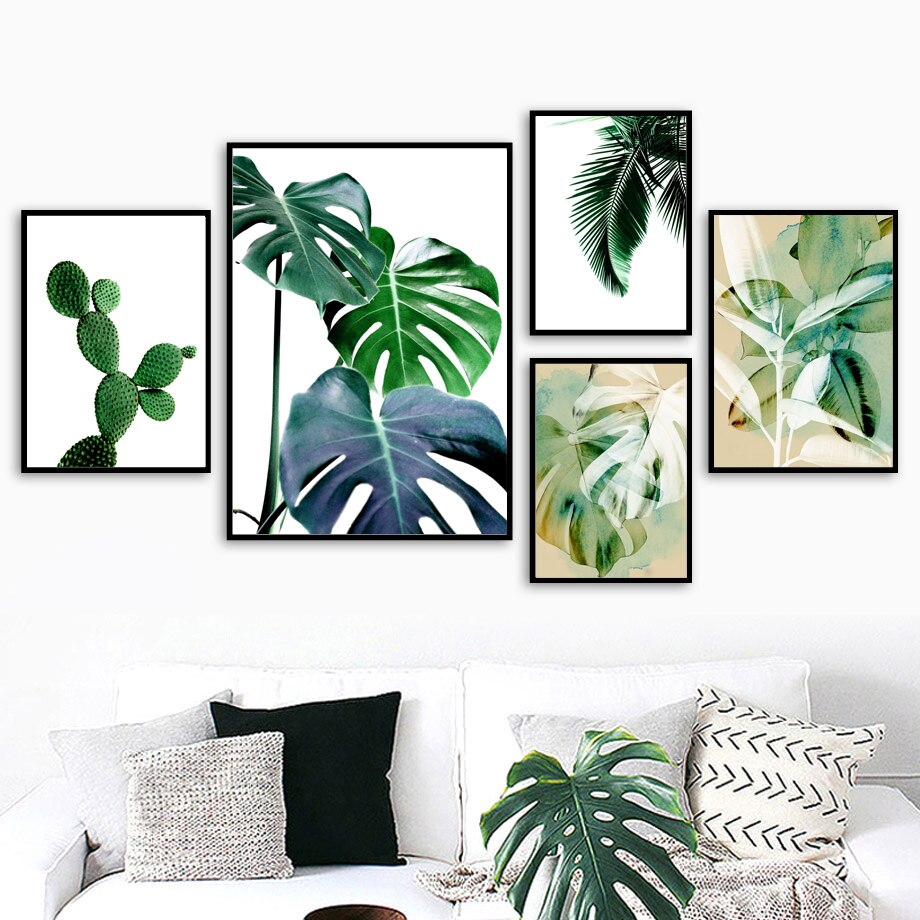 Green Plant Cactus Tropical Leaves Wall Art Canvas Painting Nordic Posters Prints Wall Pictures For Living Room Decor Unframed Shopee Philippines Us $8.45 54% off|custom photo wallpaper retro tropical rain forest palm banana leaves 3d wall mural cafe restaurant theme hotel. green plant cactus tropical leaves wall art canvas painting nordic posters prints wall pictures for living room decor unframed
