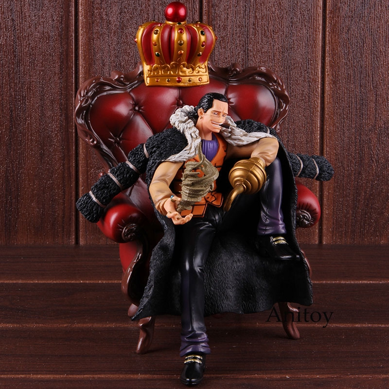 Action Figure Collectible Toy One Piece P.O.PXL Sir Crocodile Sitting Sofa Ver