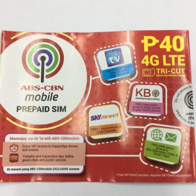 ABS CBN sim LTE