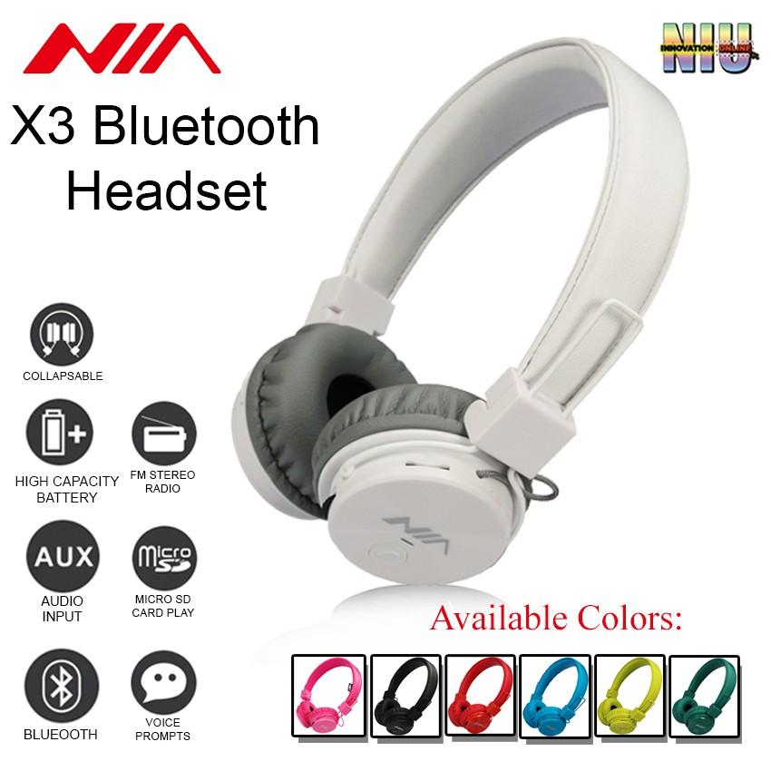 43c4ace1e4e ProductImage. ProductImage. NIA X3 Foldable Wireless Headphones ...