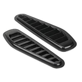 Aramox Bonnet Vent Cover Carbon Fiber Universal Car Decorative Air Flow Intake Scoop Bonnet Vent Sticker Cover Hood
