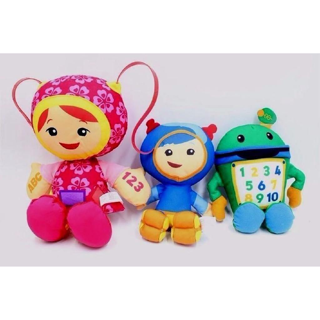 3pcs Team Umizoomi Bot Milli Geo Plush Doll Kids Toy